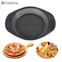 Shebaking 1pc Round Silicone Cake Mold 3D Baking Pizza Fondant Chocolate Soap Bread Desseert DIY Pastry Tools