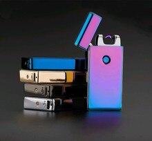 ชีพจรอิเล็กทรอนิกส์Arcไฟแช็กWindproofโลหะชีพจรUSBชาร์จFlamelessไฟฟ้าArcซิการ์บุหรี่ไฟแช็ก