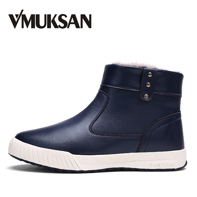 VMUKSAN New 2018 Winter Snow Boots Men Fashion Casual Warm Mens Boots Big  Size 39- ba324e005381