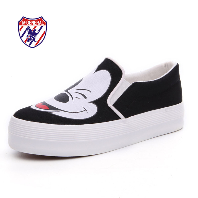 M. GENERAL de la Nueva Llegada 2016 Mujeres de Moda de Lona Casuales Zapatos Planos Slip-On Solid Lindo Animal Prints Scarpe Zapatos de Mujer # M6829