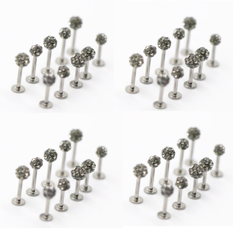 Earring-Bar Body Piercing Lip Stud Crystal-Ball Tragus Gift Stainless-Steel Luxury