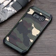 Case For Samsung Galaxy S7 S7 Edge S8 S8 Plus Hybrid Plastic and TPU Hard Cover Camouflage Style Armor Protector Shell