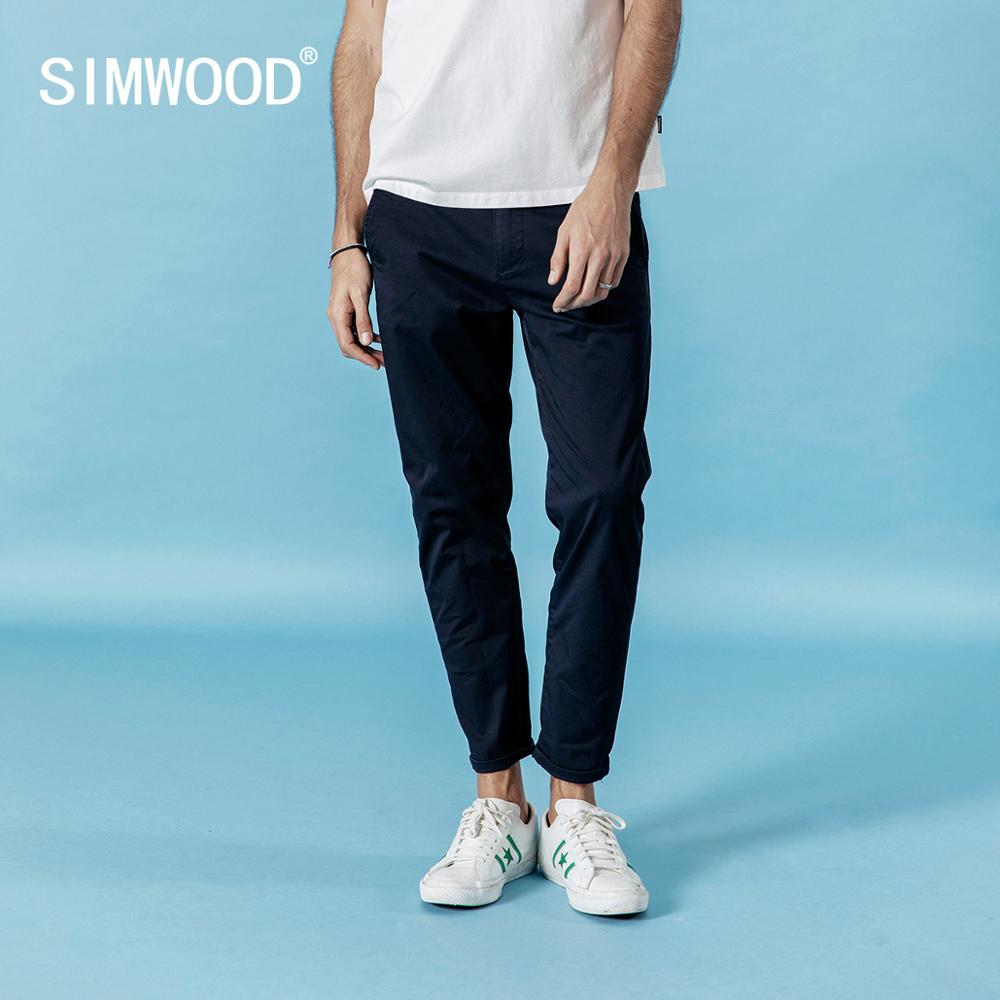 SIMWOOD 2019 Autumn New Ankle-length Casual Pants Men Elastic Trousers Plus Size High Quality Brand Clothing 190317