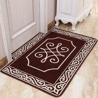Doormat Living Room Carpet Door Mat Kitchen Rug Lobby Balcony Cushion Trapezoid Dustproof Non slip Water Uptake Delicate