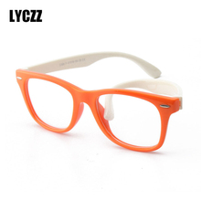 a84b10c5bf4 LYCZZ Bendable Kids glasses frame Boy girl eyeglasses Flexible clear Children  eyewear