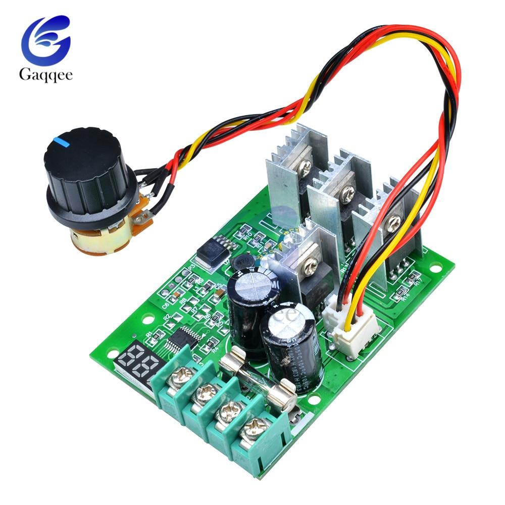 Motor Drehzahlregler CW CCW Speed Controller Schalter DC 12V 24V 36V 48V 6A DE