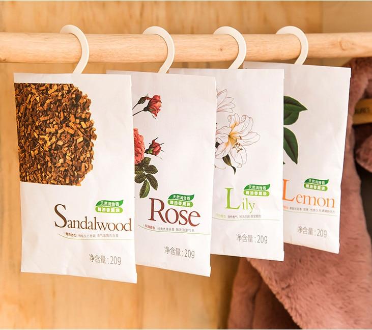6 Taste Fresh Air Scented Fragrance Home Wardrobe Drawer Car Perfume Sachet Bag Aromatherapy Package