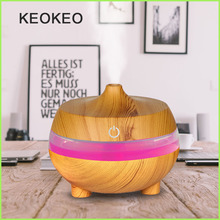 KEOKEO Air Humidifier 300ML USB Aroma Essential Oil Diffuser Ultrasonic Purifier 7 Color LED Atomizer