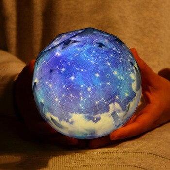 קסם כוכב ירח כוכב מסתובב Galaxy מקרן מנורת LED לילה אור קוסמוס יקום Luminaria תינוק אורות עבור מתנה שמי זרועי הכוכבים