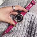 Дамы Мода Кварцевые Часы Женщины Rhinestone Кожаный Вскользь Платье женские Часы Розовое Золото Кристалл mujer reloje 2016 montre femme