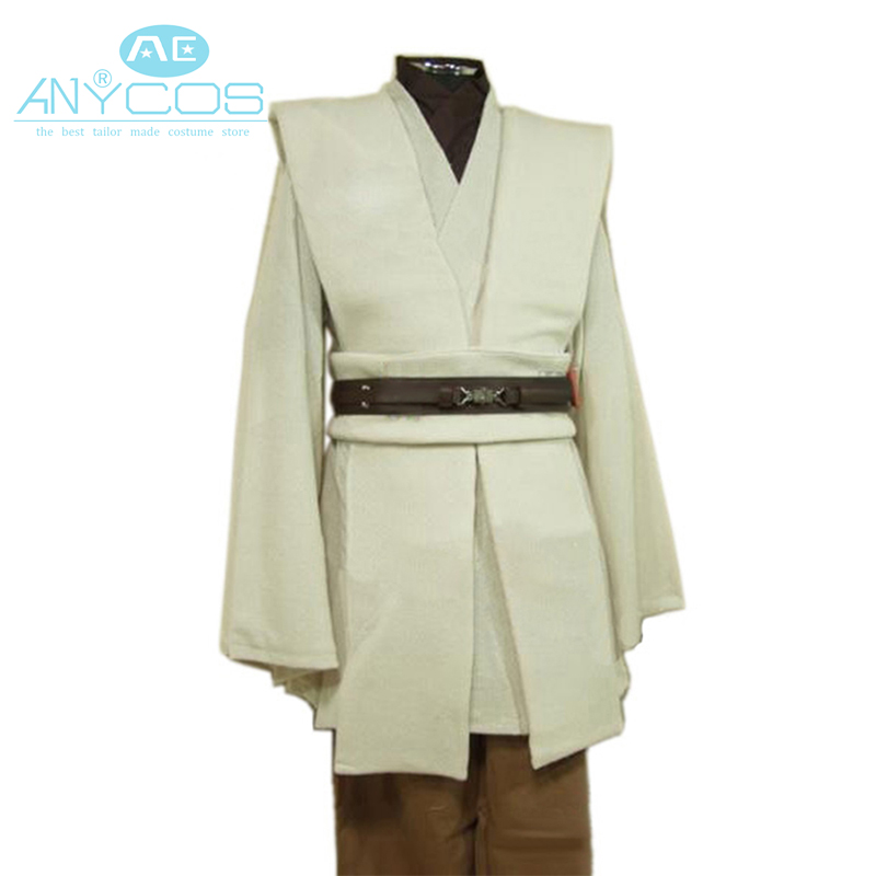Star Wars Kenobi Jedi Tuniek Bruin Mantel Robe Movie Halloween Cosplay Kostuums Voor Mannen Kerstcadeau