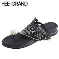 HEE GRAND Gladaitor Summer Flip Flops 2018 Platform Women Sandals Casual Beach Shoes Woman Slip On Flats Size 35 40 XWZ4881