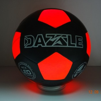 Play Led Football Light Up Soccer Ball Play at Night and Day Fashion Design Ball Play and Beach in Dark With Bright Light Size 5