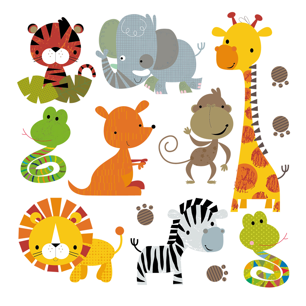 Cute Cartoon Animals Kids Clothes Household Iron On Patch
