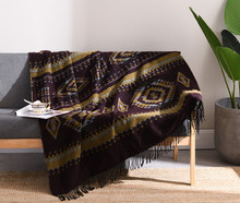 Jacquard Knitted Wool Blanket Bed Tail Towel Nordic Sofa Model Room Tassel Decorative Spring and Autumn