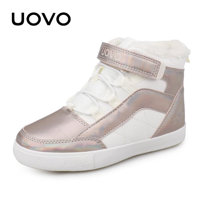 Girls Shoes 2019 New Winter Kids Walking Shoes Warm Plush Lining Fashion Children Footwear Flat Girls Sneakers Size #30-37