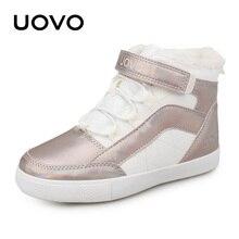 Girls Shoes 2020 New Winter Kids Walking Shoes Warm Plush Lining Fashion Children Footwear Flat Girls Sneakers Size #30 37