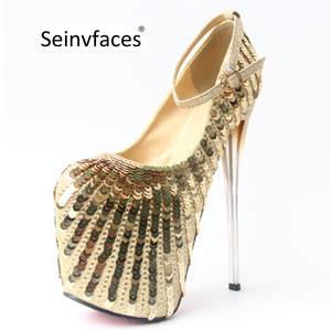 50219c20c377 Seinvfaces women s sexy platform thin high heels pumps