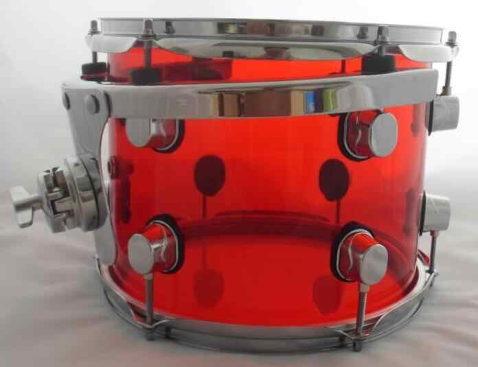 10*7inch 12*8inch snare drum tom drum acrylic material