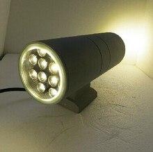 10pcs 24W Aluminum Outdoor IP65 Wall lamp Epistar Led Wall Light up and down Garden Wall Lighting 110V 220V 3 Years Warranty