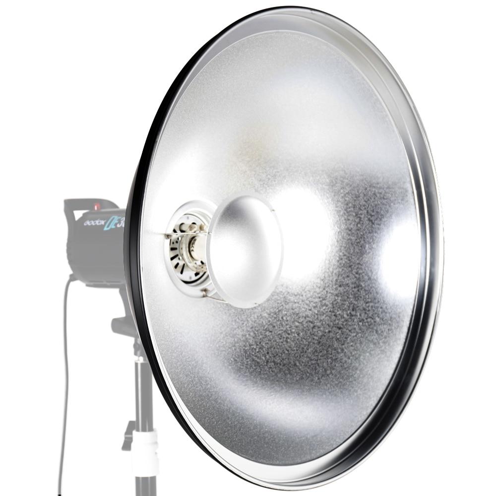 ASHANKS 55cm/ 21.7 Inch Waved Beauty Dish Reflector with Honeycomb Soft Cloth Two Mini Reflectors for Bowens Strobe Flash Light ashanks 55cm 22 studio silver beauty dish bowens mount honeycomb grid diffuser sock