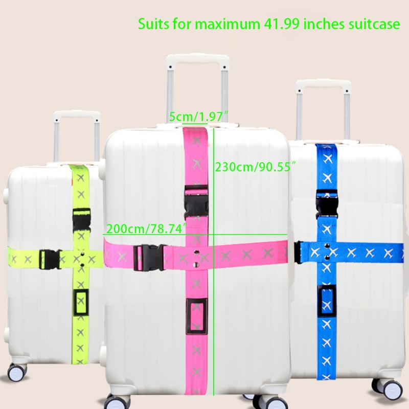 THINKTHENDO Adjustable Cross Travel Tags Luggage Straps Security Suitcases Belts Accessories