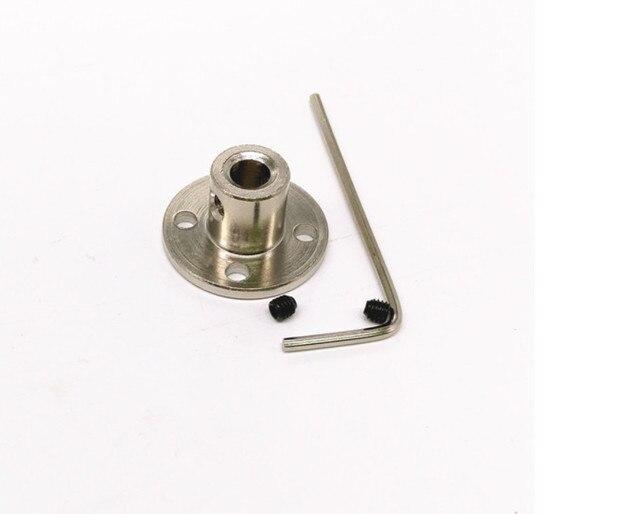 US $12 88 |10PCS Flange coupling flange coupling axis oriented high  hardness metal bearing DIY metal coupling model toy car free shipping-in  Parts &