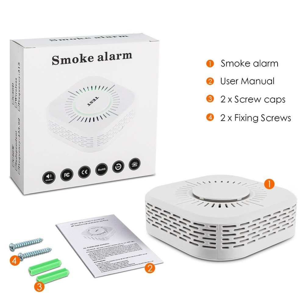 Wireless 433mhz Smoke Detector Fire Security Alarm Protection Alarm Sensor For Home Factory Company Security Alarm System