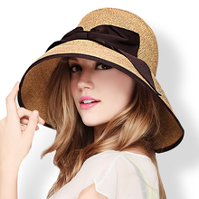 Новые прибытия Мода Солнцезащитные шляпы Женщины Отпуск Летние пляжные колпачки Женские соломы Raffia Cap Высокое качество Вязание крючком шляпы B-7037
