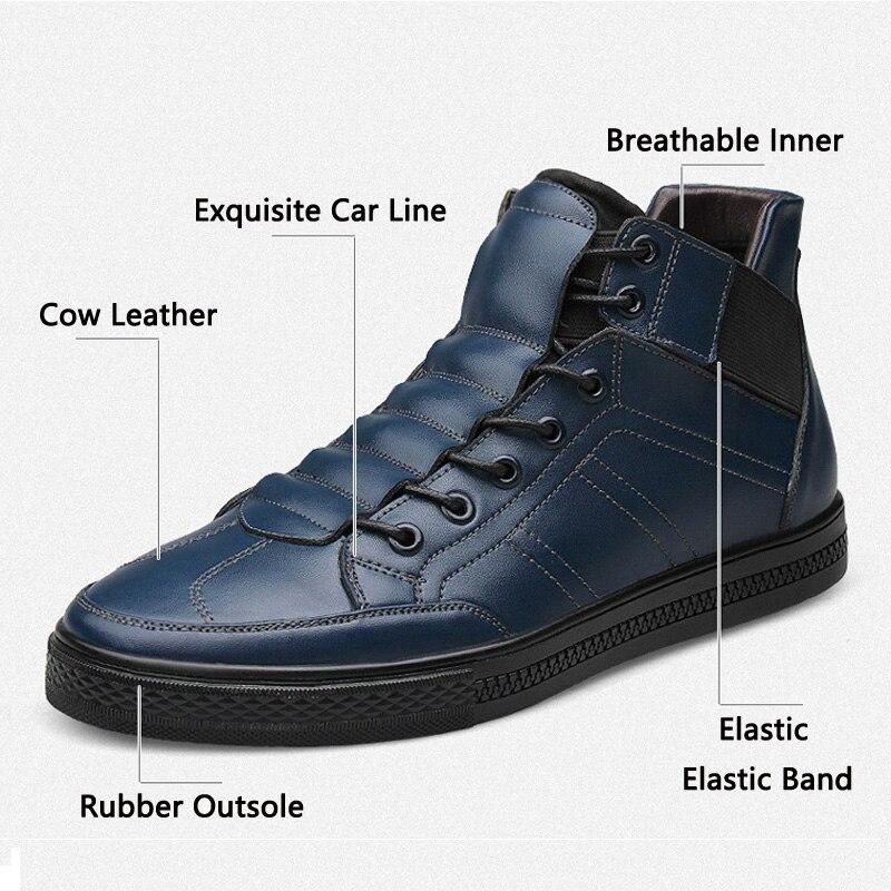 JUNJARM 2017 Hight Qualität 100% Echtes Leder mann Stiefeletten  italienischen Echtleder Männer Stiefel Schwarz Männer Winter Schuhe Mit  pelz in JUNJARM 2017 ... 9c6d8492e7