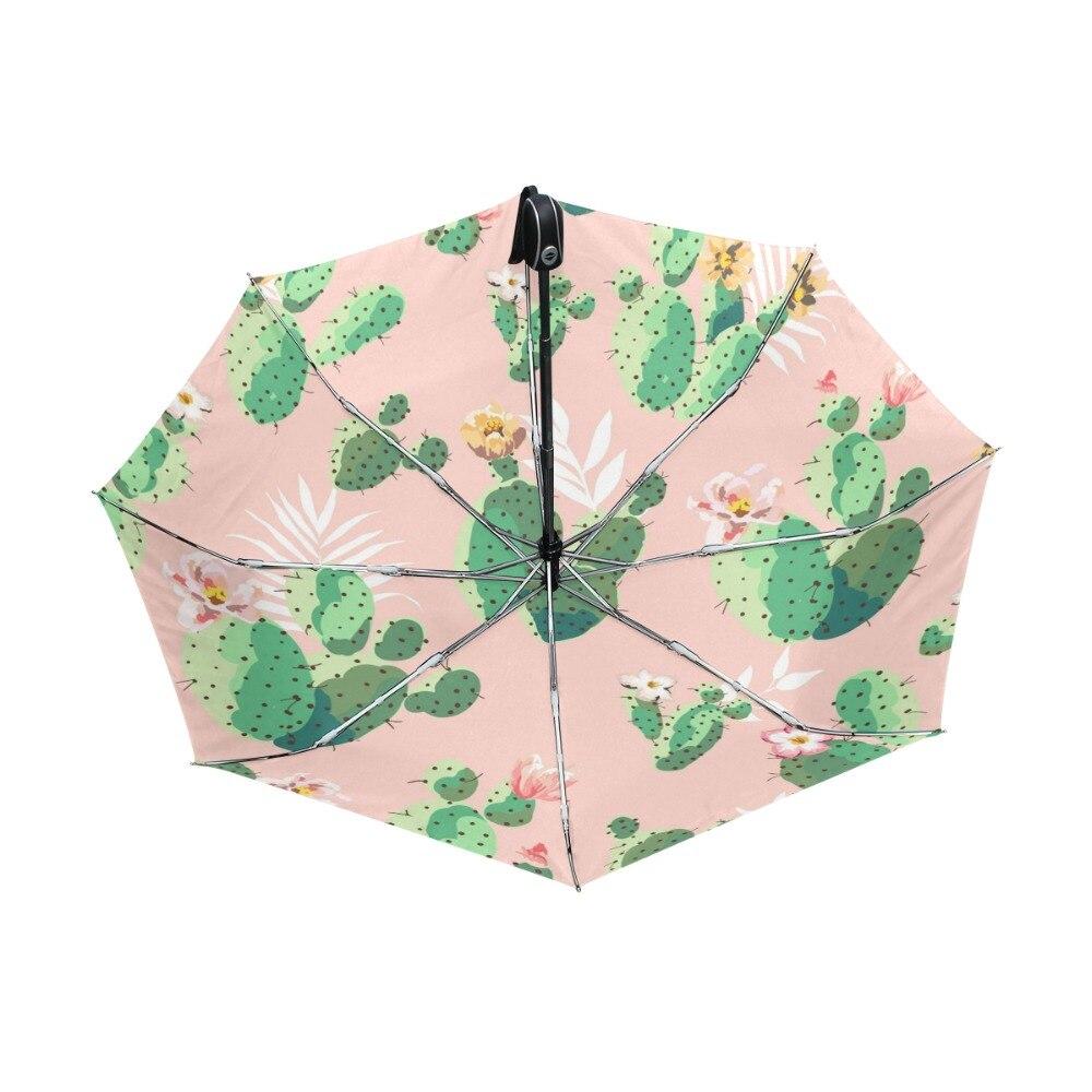 imágenes oficiales conseguir baratas seleccione para el más nuevo € 22.83 41% de DESCUENTO|Lindo paraguas de flores de Cactus de dibujos  animados UV Anti ligero Parasol elegante 3 plegable paraguas resistente  regalos ...