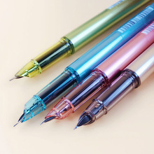 0.5mm Higt Quality Plastic Fountain Pen Multifunction Suck Ink & Sac Pens For Writing Stationery Gift Office School Supply