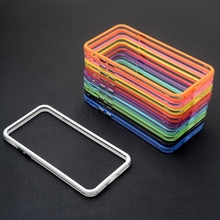 Hybrid middle transparent soft tpu bumper for iphone 6 6s