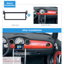 Harfey coche 1Din Panel de Radio Fascia instalar Trim estéreo marco Kit de cubierta para BMW Mini Cooper R50 R52 R53 Dash reproductor de DVD kit de Panel(China)