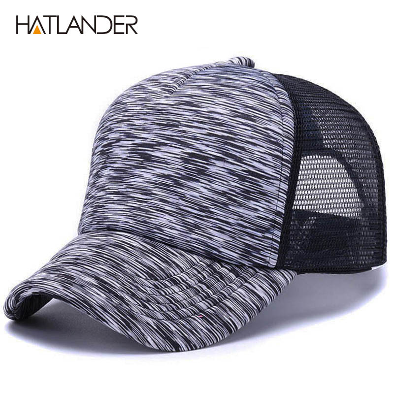 3af06e940a790 Detail Feedback Questions about  HATLANDER Adjustable striped baseball caps  for men women summer sun hat solid snapback casquette gorras mesh curved  trucker ...