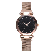 Relojes Para Mujer 2019 Luxury Brand Rose Gold Watch Women Stainless Steel Diamond Quartz Wrist Watch Ladies Starry Sky Watch fashion watch women stainless steel band gold quartz hour wrist analog watch brand women dress watches ladies relojes mujer
