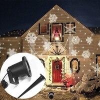 EU Plug 12 Patterns Outdoor Laser Projector Spotlight Waterproof Landscape DJ Disco Lights Garden Lawn Christmas
