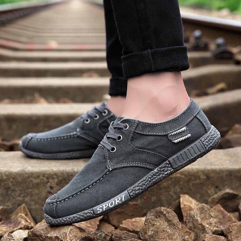 Toile 44 Chaussures Respirant Blue Classique gray De Denim Confortables  Mode Backcamel Tendance Hommes Nouveau Bas ... d172408ed62