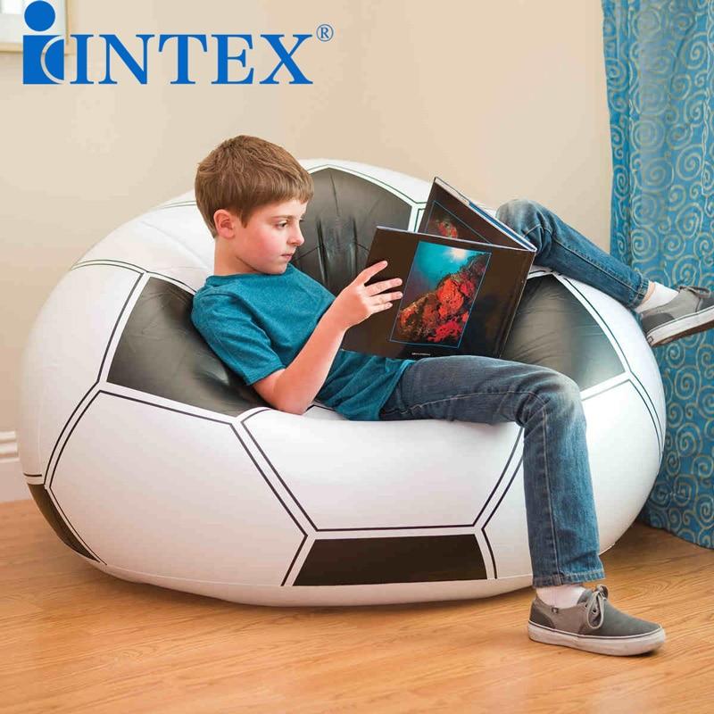 New  inflatable sofa INTEX football inflatable sofa chair lazy inflatable stool football sofa baby seat inflatable sofa stool stool bb portable small bath bath chair seat chair school