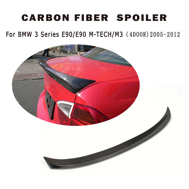 carbon Fiber Rear Trunk lip wing Spoiler for BMW 3 series 330i 335i E90 M sport 2005-2012 boot spoiler Car Tuning Parts