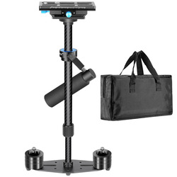 Neewer Carbon Fiber 24inches/60cm Handheld Stabilizer Quick Release Plate 1/4+3/8 Screw for Canon/Nikon/Sony/other DSLR Camera