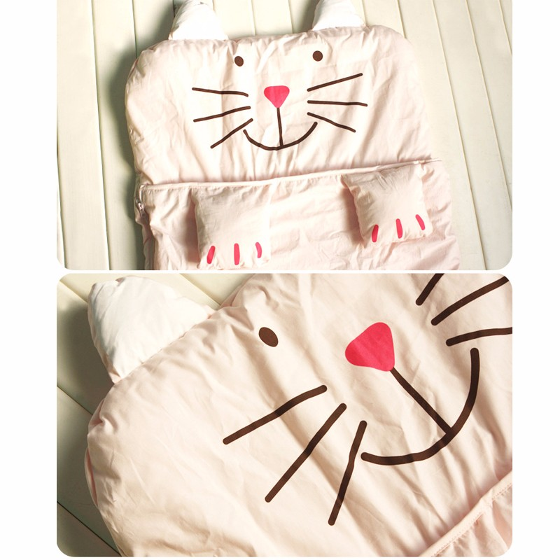 Baby Sleeping Bag Newborn Cotton Sleeping Bags Autumn Blanket Infant Coveralls New Cat Toddler Clothes Spring Anti Tipi Blankets (3)