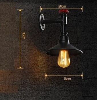 רטרו לופט סגנון Creative מים צינור מנורת אדיסון פמוט קיר תעשייתי בציר קיר אור גופי לבית תאורה Lampara