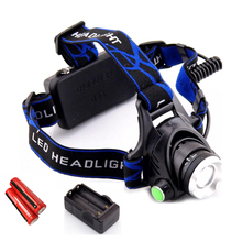Hot Camping Lantern Front Headlight Waterproof Q5 CREE LED Headlamp with Battery Charger Head Lamp LED Flashlight Head Torch