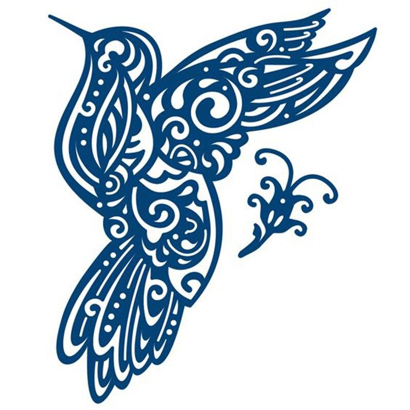 Naifumodo Humming Bird Metal Cutting Dies for Scrapbooking New 2019 Die Cuts Card Making Album Embossing Crafts