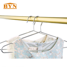10 Pack Stainless Steel Strong Metal Wire Hangers Clothes Hangers 4mm Thickness Gage Hanger Organizer BYN DQ-9023-2