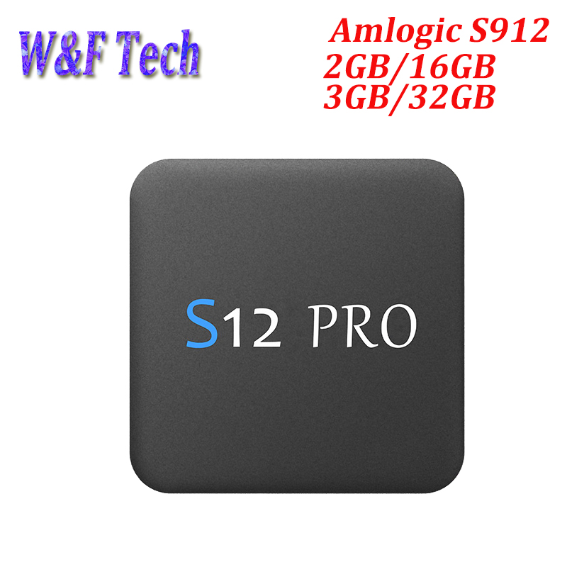 S12 PRO 3 GB 32 GB Android 7,1 TV Box Amlogic S912 Octa Core 2,4/5 Ghz Wifi 1000 M LAN BT 4 K H.265 Smart Media player Set top box-in Decodificadores from Productos electrónicos on AliExpress - 11.11_Double 11_Singles' Day 1
