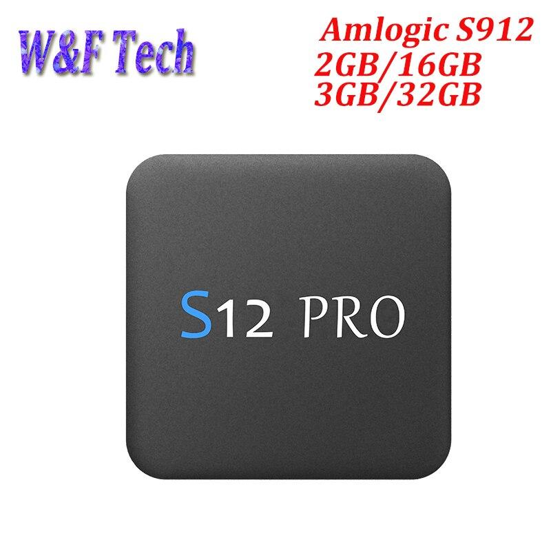 S12 PRO 3 GB 32 GB Android 7.1 TV Box procesor Amlogic S912 Octa rdzeń 2.4/5 Ghz Wifi 1000 M LAN BT 4 K H.265 inteligentny odtwarzacz multimedialny Set top box w Dekodery STB od Elektronika użytkowa na AliExpress - 11.11_Double 11Singles' Day 1
