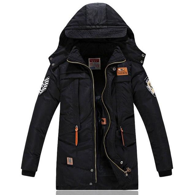 Куртки для мальчиков зимние детские пуховые комбинезоны на утином пуху ветровка парка теплые толстые пальто на молнии для крупных мальчиков верхняя одежда для детей и подростков