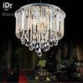 Rond européen de luxe chambre led lustres lampe cristal lampe salon restaurant haute qualité lumière 90-260 V